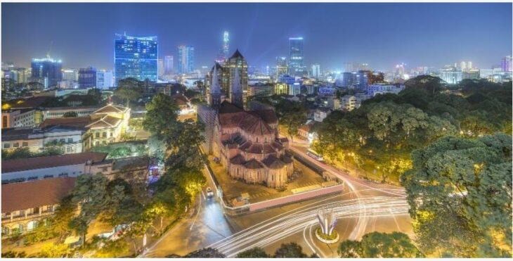 Midnight fair and festive meals in Vietnam