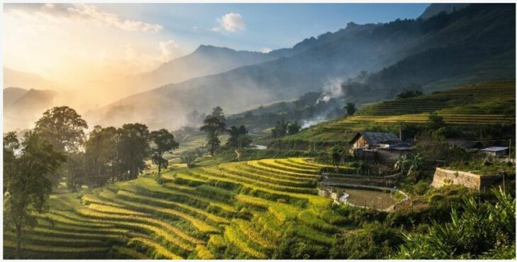 Sapa rice terraces, mountains and culture